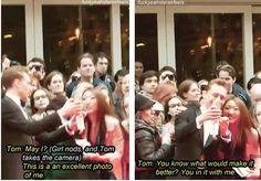 Tom Hiddleston= sweetest guy ever! :)