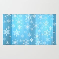 Snowflakes, snowflakes Area & Throw Rug