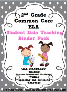 """2nd Grade Common Core ELA/Literacy {Student Data Tracking Binder/Notebook} *ALL STANDARDS! Included in this bundle is AR graphs, fluency graphs with DIBELS benchmarks, superhero themed """"Marzano"""" assess yourself posters and rubrics and more!!!"""