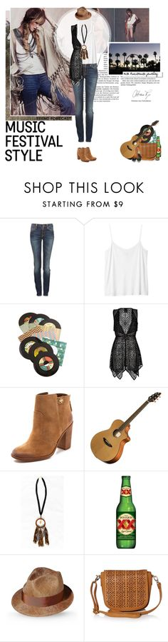 """""""Boho style!MCKbyMarieKC handmade necklace"""" by mariakrt85 ❤ liked on Polyvore featuring Free People, Nudie Jeans Co., Monki, Chronicle Books, Anna Sui, Tory Burch, Borsalino and MOOD"""