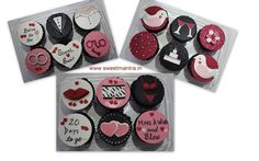 Homemade eggless personalized, handcrafted Bachelorette, Hens party theme customized designer fondant cupcakes at Pune