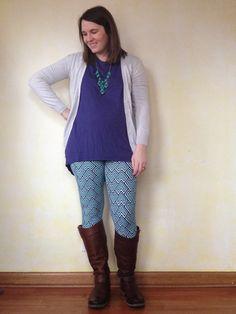 LuLaRoe leggings and Irma Tunic