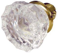 Ultra 2-Pack Glass and Brass Passage Door Knob at Menards