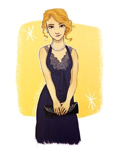 Annabeth Chase in the 1940's from Rick Riordan's Heroes of Olympus fan art drawing by Marion Parajes