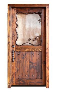 Western door.  Very cool. Love to have for the bedrooms