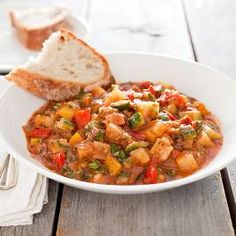 Italian Vegetable Stew (Ciambotta)- the recipe is a bit involved, but it is well worth it!  Adam loved the heartiness, the herbs are delicious, and I love all the veggies.  We added italian chicken sausage to get my man some meat :)