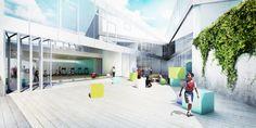 Galeria de BIG divulga projeto de escola secundária em Arlington - 13