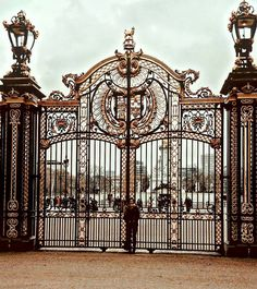 Vinimo' a ver a Isa by camivii House Main Gates Design, Front Gate Design, Door Gate Design, Front Gates, Entrance Gates, Gate Lights, Home Fencing, Sculpture Metal, Neoclassical Architecture