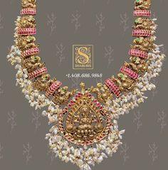 Silver Jewellery Indian, Indian Wedding Jewelry, Bridal Jewelry, Silver Jewelry, Temple Jewellery, Antique Jewellery, Ruby Necklace Designs, Jewelry Design Earrings, Gold Jewellery Design