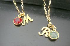 Gold Vermeil Initial Necklace, Script Initial Necklace, Alphabet Letter Charm Necklace, Customed Birthstone necklace, Name Necklace Letter Charm Necklace, Letter Charms, Name Necklace, Letter R Tattoo, Stylish Alphabets, Wicked Tattoos, Heart Tattoo Designs, Alphabet Wallpaper, Birthstone Necklace