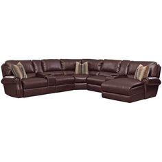 Princeton 5 Pc. Power Reclining Sectional ($2,500) ❤ liked on Polyvore featuring home, furniture, storage chaise, home storage furniture, storage console, 5 piece sectional and nailhead furniture