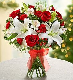 Shop Christmas flowers & gifts for delivery to celebrate the season! Find beautiful Christmas floral arrangements and holiday flowers. Christmas Flower Arrangements, Christmas Flowers, Christmas Centerpieces, Floral Arrangements, Christmas Trees, Centerpiece Ideas, Winter Holiday, Flower Centerpieces, Christmas Christmas