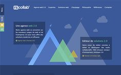 Rscollab, agence web 2.0 Rennes, parallax site