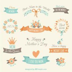 Elementos de decoración del día de la madre