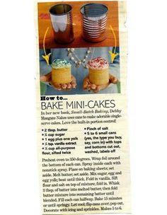 Bake Mini Cakes