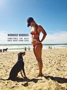 the best workout buddies #dogs #exercise #beaches #swell