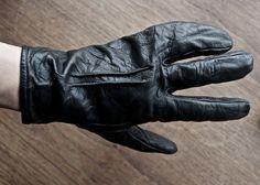Carol Christian Poell Object Dyed Kangaroo Disparate Full Finger Glove
