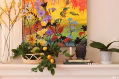 6 Ways To Beat the January Blues in your Home | Maria Killam  love all these colors in art and plants... faux all