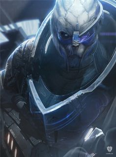 The artwork Garrus (Archangel) is digitally created concept art for the Mass Effect video game series. Garrus is one of the main characters in the games. T