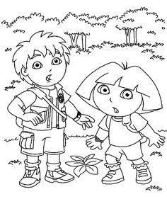 Dora desenhos para imprimir » Desenhosparaimprimir.net