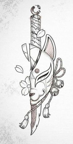 Dark Art Drawings, Tattoo Design Drawings, Pencil Art Drawings, Art Drawings Sketches, Tattoo Sketches, Cool Drawings, Drawings Of Wolves, Japanese Drawings, Japanese Tattoo Art