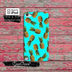 Pineapple Pattern Blue Summer Cute Fruit Tumblr Custom Case iPod Touch 4th Generation or iPod Touch 5th Generation Rubber or Plastic Case on Etsy, $14.99
