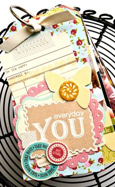 Mini album using free download stamps from Photocentric