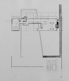 Finney guest house, Siesta Key, Florida. Plan. Rendering | Paul Rudolph & His Architecture