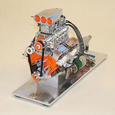 A blown working V8 model