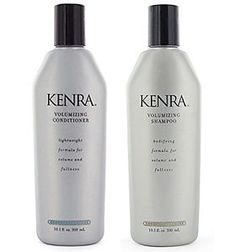 Kenra shampoo and conditioner. I have thin, fine hair and this line works great for me.