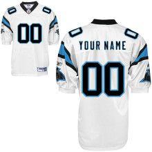 Customized NFL White Reebok Carolina Panthers Jersey  $60