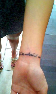 it is, what it is #tattoo #smallwristtattoo