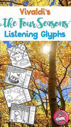 A beautiful listening glyph for every season of Vivaldi's The Four Seasons!  Looks great on a music bulletin board.