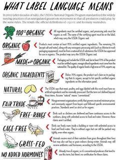 Organic, gmo, free range etc.