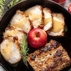 Apple Glazed Roasted Pork Loin is perfectly sweet and savory. Seasoned pork loin is roasted and then drizzled with the most amazing, delicious glaze—impress your guests or treat yourself! Pork Recipes, Cooking Recipes, Game Recipes, Pork Loin Steak Recipes, Cooking Ideas, Recipies, Apple Glaze, Pork Roast, Roast Brisket