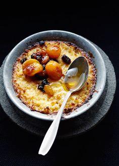 Apricot &raisin rice pudding