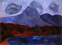 Marsden Hartley, Mount Katahdin, Maine, 1942-No painter has come to embody better the brooding vigor and new, native spirit of American modernism at the turn of the century as Marsden Hartley (1877–1943).