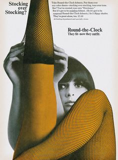 Round-the-Clock Stockings advertisement, 1966.