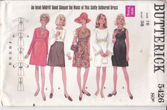 1970's Sewing Pattern - Butterick No 5426 Dress Size 16 38 inch bust Uncut and factory folded by jennylouvintage on Etsy
