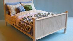 In the second part of this tutorial, I show you how to dress the bed. I have kept my design fairly simple with just three different fabrics, but you can a lo...