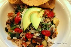 Wholesome Dinner Tonight: Grilled Vegetable, Black Bean & Rice Skillet {Vegetarian, Gluten Free}