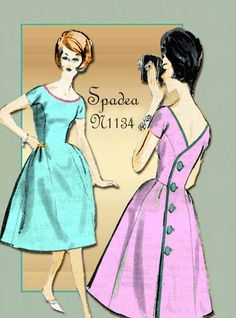 1960s Sewing Pattern Vintage Spadea N 1134 by FloradoraPresents, $35.00