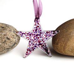 Fused Glass Star Suncatcher