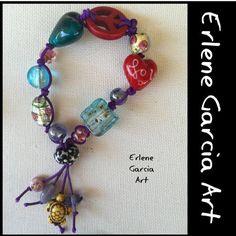 Peace and Love Bracelet by ErleneGarciaArt on Etsy
