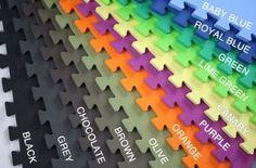 "Amazon.com: Soft Foam Gym Flooring Tiles 5/8""x2'x2' Interlocking Floor Mats: Sports & Outdoors"