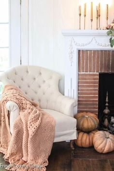 My fall home is filled with romantic purple, blush and gold Fall Home Decor, Autumn Home, Cheap Home Decor, Autumn Girl, Warm Autumn, Cottage Furniture, Living Room Furniture, Hygge, Rugs In Living Room