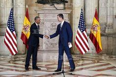 Barack Obama visit to Spain - 10 Jul 2016 King Felipe VI of Spain Receives US President Barack Obama at Royal Palace 10 Jul 2016