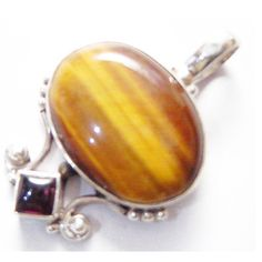 Tiger Eye Jewellery – Tiger Eye Silver Pendant, Nickle Free Jewelry – a unique product by Midas-Jewelry on DaWanda