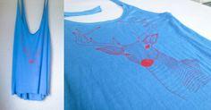 T-shirt deer serigraphy. Crop Tops, Tank Tops, Deer, T Shirt, Women, Fashion, Supreme T Shirt, Moda, Halter Tops