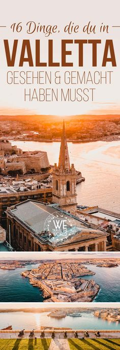 Valletta City Guide: 16 great things to do in Valletta .- Valletta City Guide: 16 großartige Dinge, die du in Valletta gesehen und gemacht haben musst The most beautiful Valletta attractions for your Malta vacation. Malta Vacation, Italy Vacation, Italy Travel, Malta Valletta, Travel Around Europe, Reisen In Europa, Voyage Europe, City Break, Travel Images